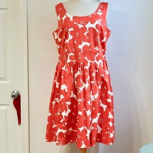 NEW Boden Orange Floral Summer Dress Plus Size 16